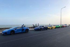 Hình ảnh dàn siêu xe triệu đô xuất hiện tại thành phố biển Vũng Tàu