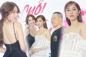 Ngọc Trinh diện váy đen quyến rũ đối lập với sắc trắng tinh khôi của 'nàng út' Quỳnh Hương