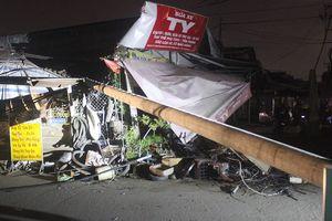 Tin thêm về vụ trụ điện bất ngờ gãy đổ ở quận 9