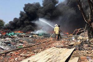 Một tháng, cơ sở phế liệu 2 lần cháy lớn, đe dọa rừng phòng hộ