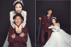 Sự thật xúc động của bộ ảnh cưới giữa cháu gái và ông nội