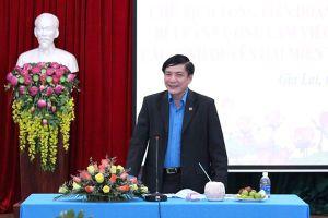 Chủ tịch Tổng LĐLĐVN làm việc với Chủ tịch LĐLĐ các tỉnh Duyên hải miền Trung và Tây Nguyên