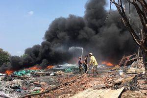 TP HCM: Xưởng phế liệu cháy dữ dội 2 lần trong 1 tháng