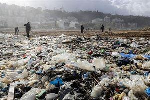 Lebanon chật vật đối phó rác thải ngập bãi biển