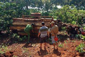 Lật xe công nông chở gỗ trong đêm, 3 người thương vong