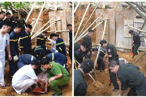 Sạt lở đất vùi lấp 4 công nhân, 3 người đã tử vong