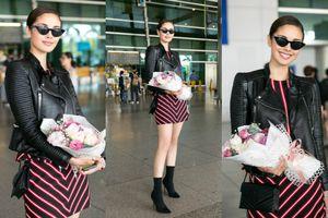 Hoa hậu Thế giới 2013 - Megan Young khoe chân dài quyến rũ tại sân bay Tân Sơn Nhất