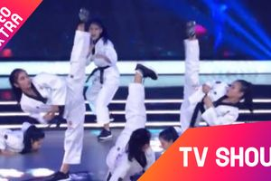 Võ Taekwondo kết hợp âm nhạc 'hấp dẫn' Minh Tú tại Đấu trường võ nhạc