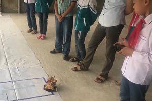 Học trò cấp 1 trường làng thi lập trình robot