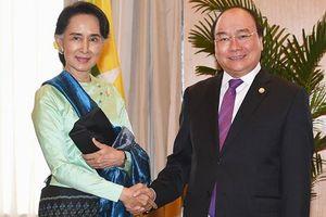 Cố vấn Nhà nước Myanmar San Suu Kyi thăm chính thức Việt Nam
