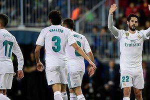 Ronaldo vắng mặt, Isco sắm vai người hùng giúp Real thắng dễ Malaga