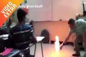 Những thí nghiệm với lửa được thực hiện ngay trong lớp học