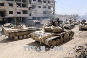 Lực lượng Syria nã pháo vào vị trí cuối cùng của IS ở thủ đô Damascus