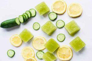 'Giải nhiệt' mùa hè cho da với đá viên trái cây, rau củ