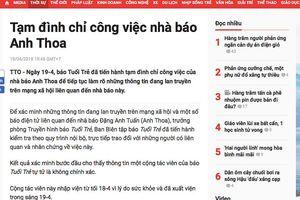 Báo Tuổi Trẻ tạm đình chỉ công việc nhà báo Anh Thoa để xác minh nghi vấn xâm hại tình dục