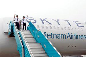 Vietnam Airlines đón máy bay A350 đầu tiên mang biểu trưng SkyTeam