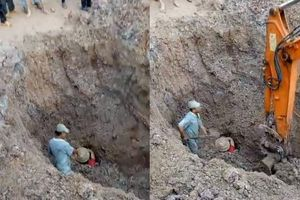 Cặp vợ chồng được cứu sống thần kỳ sau 30 phút bị đất đá vùi lấp