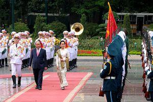Cố vấn Nhà nước Myanmar thăm chính thức Việt Nam