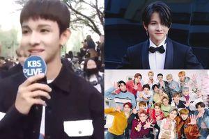 Bị fan NCT xô đẩy, 'Hoàng tử lai' Kim Samuel cũng chỉ biết cười trừ