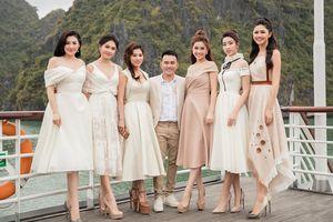 Dàn Hoa, Á hậu 'đổ bộ' du thuyền 5 sao ở Hạ Long xem thời trang
