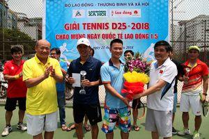 Báo LĐ&XH giành giải 3 giải Tennis mở rộng Khu liên cơ D25 - Bộ LĐ-TB&XH