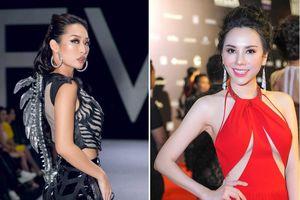 Quỳnh Thy diện váy 'xương sống', tân Ms Universe Business ra mắt với váy xẻ ngực