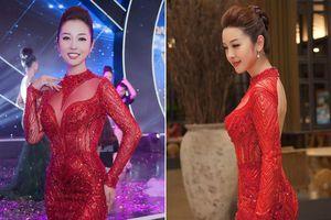 Jennifer Phạm mặc xuyên thấu, 'lấn át' dàn thí sinh Hoa hậu biển toàn cầu