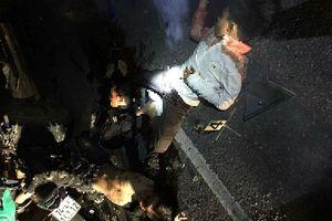 4 người đi chung 1 xe máy tử vong khi tông vào đuôi xe tải đang đậu