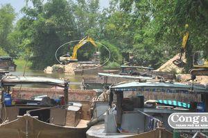 Nhiều bến bãi mua bán cát trái phép tại Điện Bàn vẫn ngang nhiên hoạt động