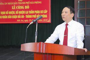 TAND TP Hải Phòng: Công bố Quyết định bổ nhiệm Thẩm phán sơ cấp