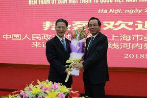 MTTQ TP Hà Nội tiếp đoàn đại biểu Chính hiệp nhân dân Trung Quốc TP Thượng Hải