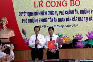 Bổ nhiệm Phó Chánh án và lãnh đạo cấp phòng TAND cấp cao tại Hà Nội