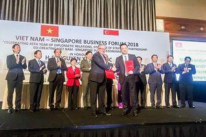 Vietcombank ký thỏa thuận hợp tác với Liên đoàn doanh nghiệp Singapore