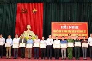 Huyện Phú Xuyên phát hiện 36 trường hợp vi phạm đê điều