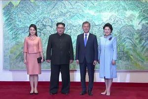 Lần đầu tiên phu nhân lãnh đạo hai miền Triều Tiên gặp nhau