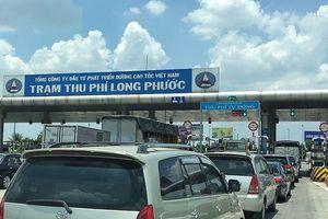 Trạm thu phí cao tốc TPHCM - Dầu Giây ùn tắc hàng cây số