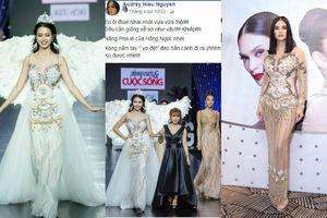 Đầm xuyên thấu từng được Hoa hậu Hoàn vũ thế giới diện bị nghi 'đạo nhái' không thương tiếc