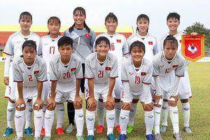 Việt Nam thắng Singapore tại Giải Bóng đá nữ U16 Đông Nam Á 2018