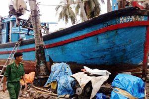 Cứu 9 ngư dân trên tàu cá bị lật úp ở vùng biển Kiên Giang