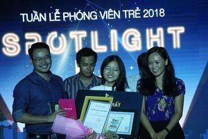 Nữ sinh trường Luật đoạt ngôi quán quân cuộc thi báo chí 'Spotlight'