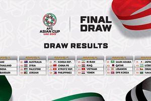 Việt Nam 'ngồi mâm Tây Á' ở vòng bảng Asian Cup 2019