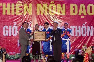Môn phái Thiên Môn Đạo nhận Bằng vinh danh của Hội Kỷ lục gia Việt Nam