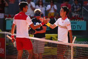 Djokovic vượt ải Nishikori tại vòng 1 Madrid Open 2018
