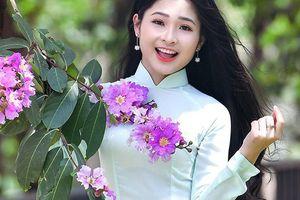 'Hot girl tráng bánh mướt' xứ Nghệ xinh tươi trong bộ ảnh chào Hè