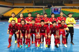 Tuyển nữ Futsal Việt Nam giành quyền vào bán kết VCK Futsal nữ châu Á 2018