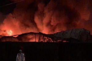 TP.HCM: Cháy lớn tại KCN Vĩnh Lộc