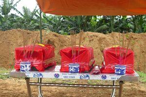 An táng 12 hài cốt liệt sĩ quân tình nguyện hy sinh tại Lào