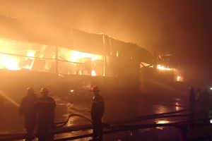 Cháy lớn tại khu công nghiệp Vĩnh Lộc, TP Hồ Chí Minh
