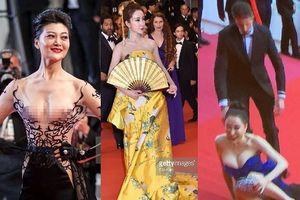 Loạt sao Hoa ngữ 'khoe thân' vẫn 'thộn mặt' trên thảm đỏ Cannes