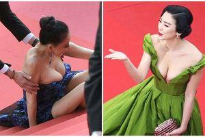 Sốc trước những chiêu trò gây chú ý của sao Hoa ngữ tại LHP Cannes: Hết khoe thân 'lố' lại cố tình vấp ngã